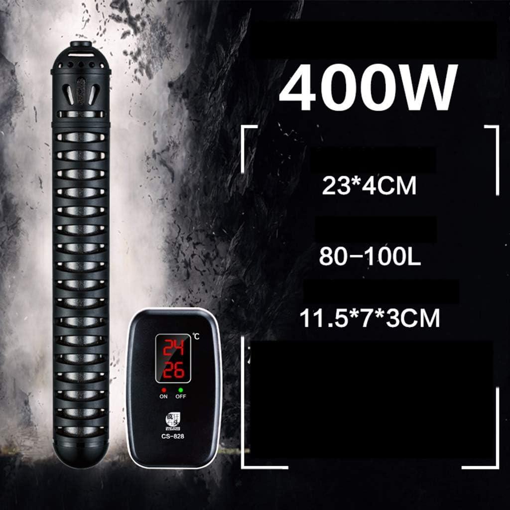GBX Hogar-Suministros para acuarios-Calentadores para acuarios Pequeña tortuga tropical Barra de calefacción para mascotas, Termostato automático, Control remoto digital independiente 220V,400W
