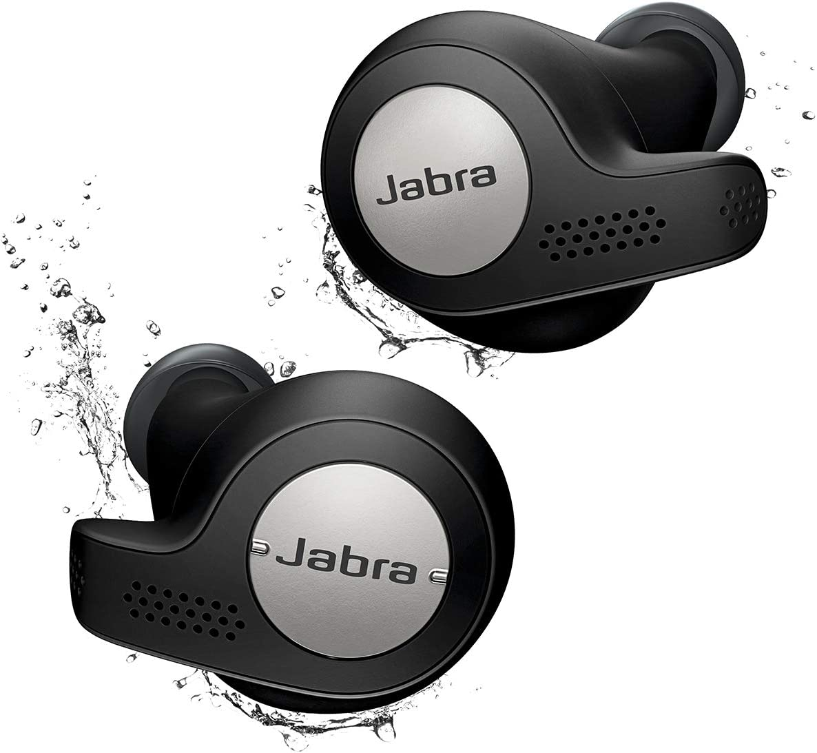 Jabra Elite Active 65t Alexa Enabled True Wireless Sports Earbuds with Charging Case – Titanium Black (Renewed)