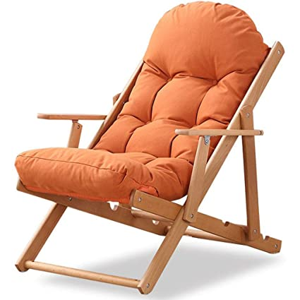 Amazon.com: GOPG Silla reclinable de madera de gravedad cero ...
