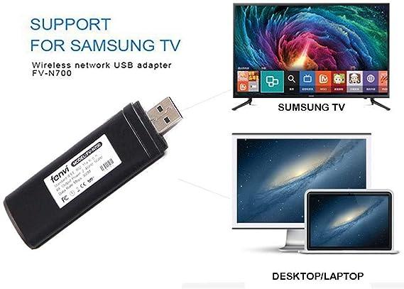 Fancart - Adaptador WiFi USB Compatible con Samsung TV, 802.11ac 2.4 GHz y 5 GHz de Red inalámbrica USB WiFi Adaptador para Samsung Smart TV: Amazon.es: Electrónica