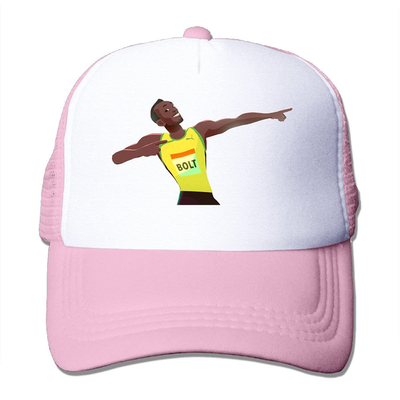 Texhood Usain Bolt Geek Hiphop Cap One Size Black