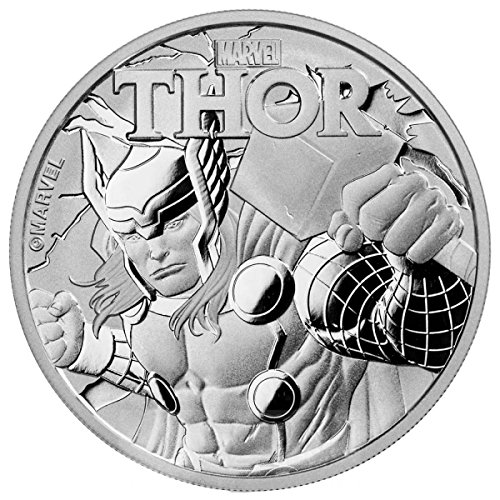 2018 TV Tuvalu 1 oz Silver $1 Marvel Series THOR™ .999 Fine silver $1 Brilliant (Pure Silver Proof Coin)