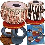 Queen Brass Tabla Drums Set-Designer_Copper 2.5Kg Bayan-Sheesham Dayan- Professional_Quality