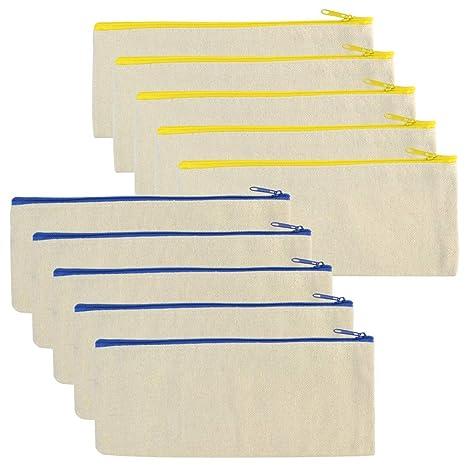 Amazon.com: Baotongle - 10 bolsas multiusos de lona de ...