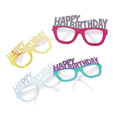 4pcs / Set Feliz Cumpleaños Papel Partido Gafas Gafas De Sol ...