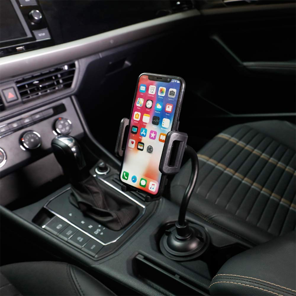 Cell Phone Holder Universal Adjustable Cup Holder Cradle Car Mount with Flexible Long Neck for Phone iPhone//Galaxy etc Car Cup Holder Phone Mount