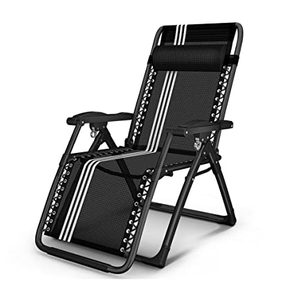f245f5c69f25 Amazon.com : Lounge chair YNN Office Folding Bed Folding Chair Back Lunch  Break Napping Chair Beach Leisure Home Chair Lazy Sun Loungers Indoor  Outdoor ...