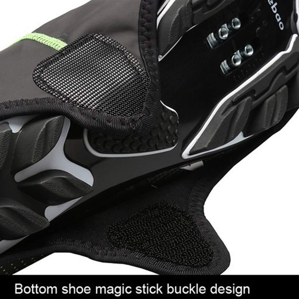 LYXMY Antideslizantes Impermeables Cubiertas de Piel sint/ética para Zapatillas de Ciclismo de monta/ña Reflectantes Gris m 41-42