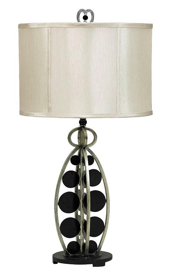 Amazon.com: CAL iluminación bo-844 lámpara de mesa con Tan ...