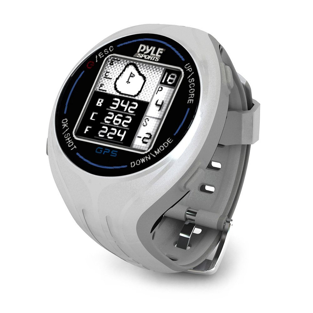 PYLE PSGF605GR Pyle GPS Smart Golf Watch with Course Recognition Green Locator Distance Calculator & Scoring System