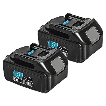 Amazon.com: 2Pack 3000mAh BL1830 18V Battery for Makita ...