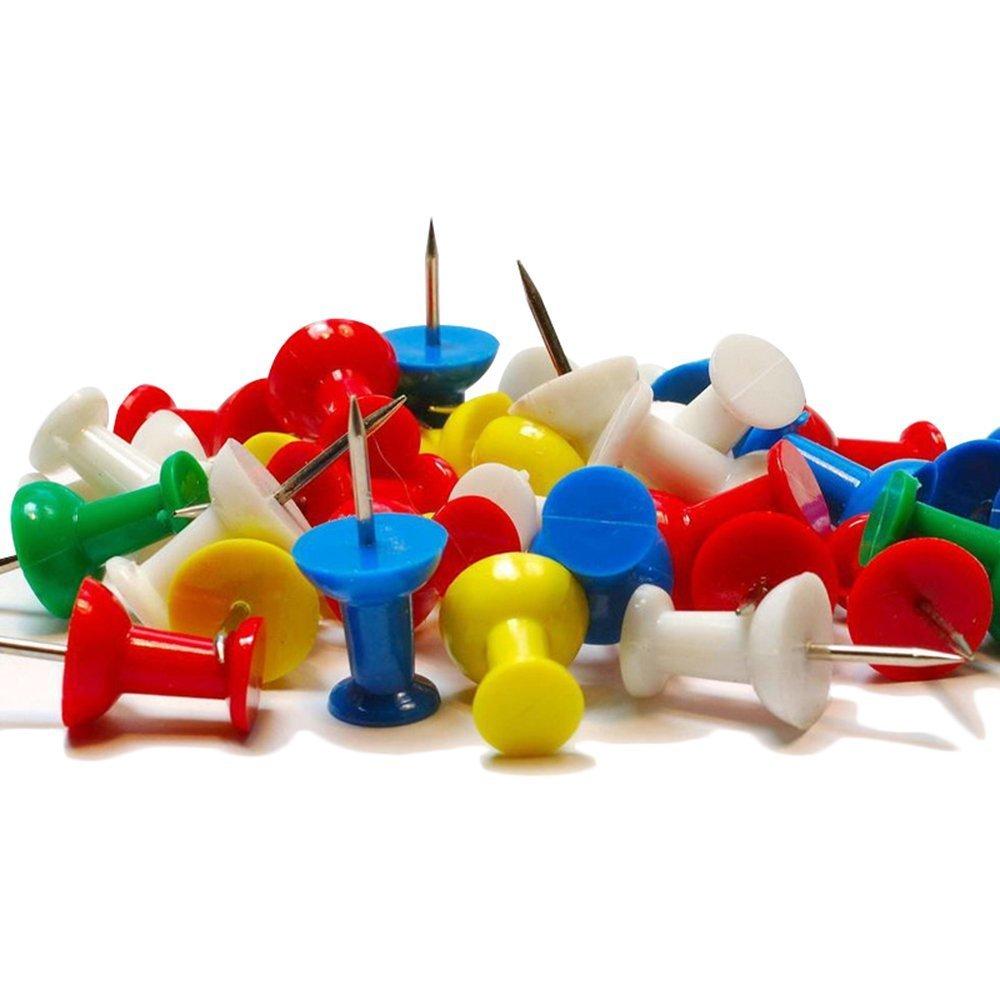 Nicebuty 50PCS mini assortiti in plastica colorata Press Push pins preavviso sughero