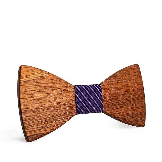 Pajaritas Moda Hombre Corbata de lazo de negocios de madera ...