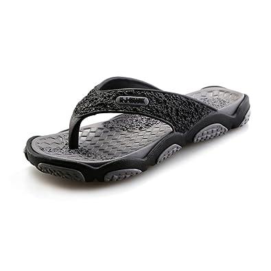 ba2cd17702f4 BAINASIQI Men s Flip Flops Summer Beach Pool Non-Slip Sandals Leisure  indoor   outdoor Flip