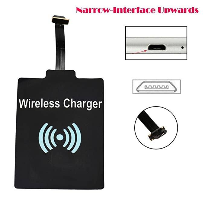 Qi carga inalámbrica receptor cargador tarjeta memoria ...