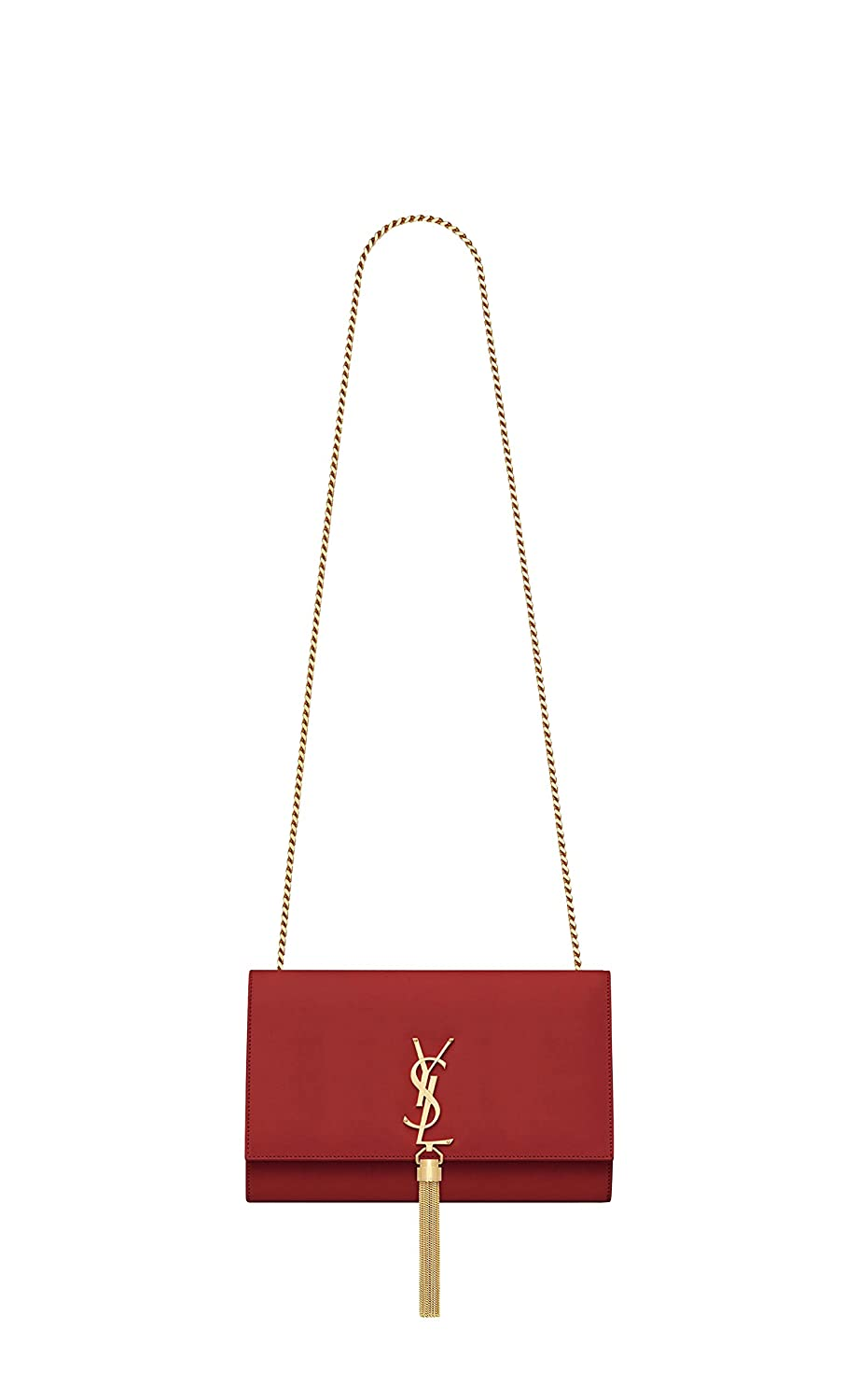 10d2eb0f8aaaa Paper Yves Saint Laurent monogram kate with tassel kate medium with tassel  in smooth leather women Shoulder Bag Classic New (red)  Handbags  Amazon.com