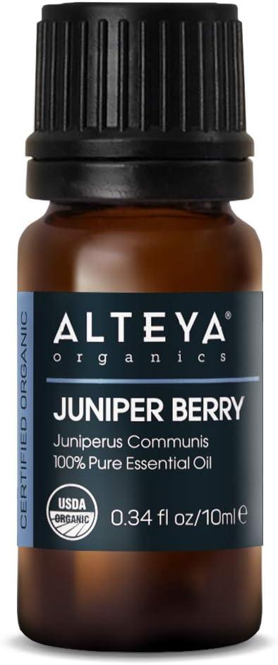 Alteya Organic Baya de enebro (Juniperus Communis) 10 ml - 100% Aceite esencial de bayas de enebro natural orgánico certificado por el USDA