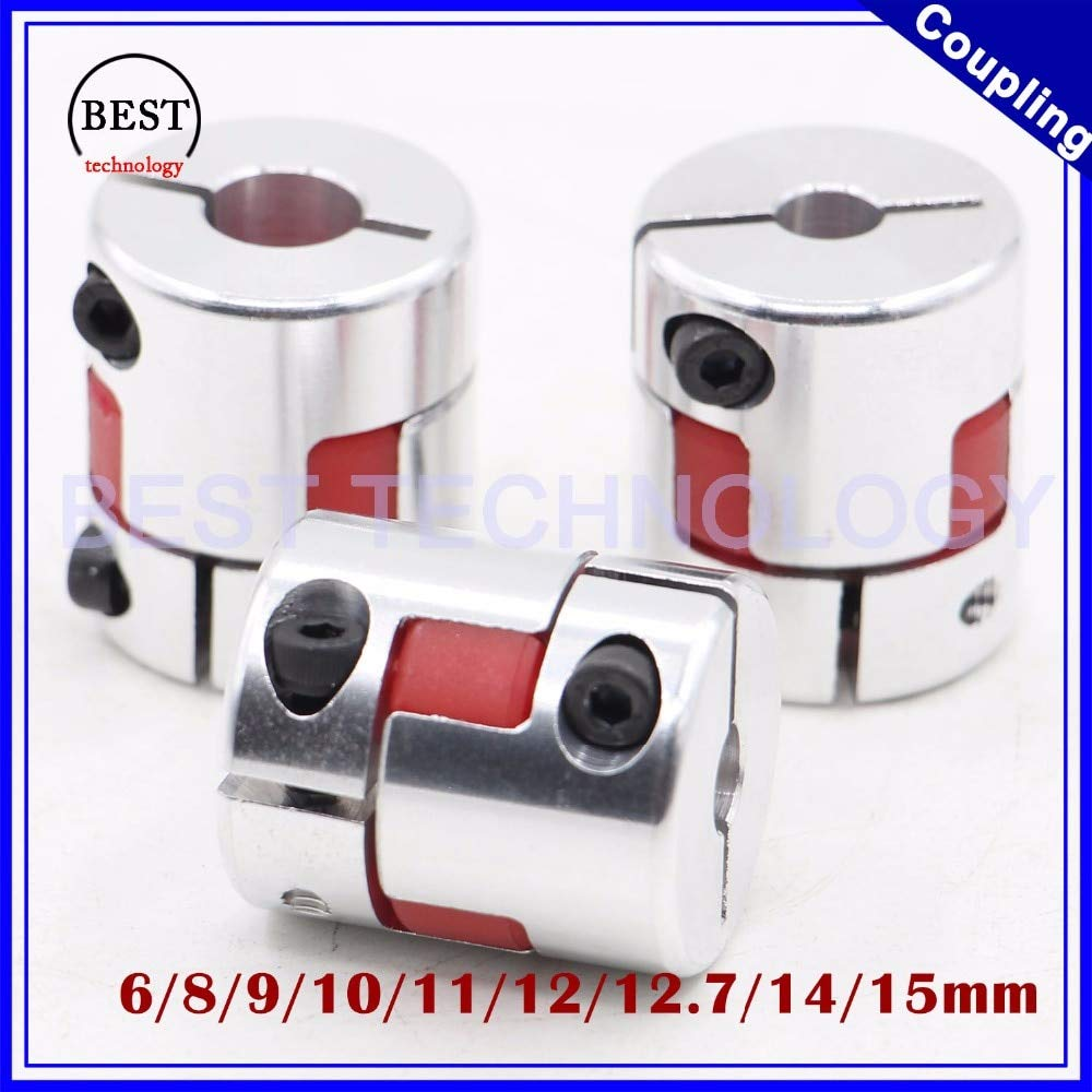 Set Screw Type Aluminum A2017 NBK MJC-55-ERD-14-22 Jaw Flexible Coupling Bore Diameters 14 mm and 22 mm