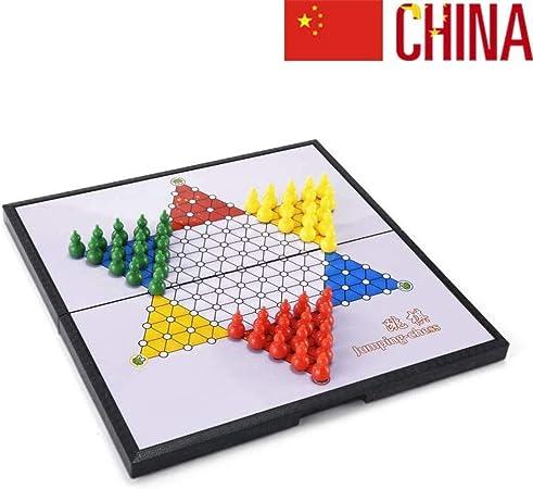 JinLiu Damas Chinas Juego de Mesa, Plegable Magnético para 2 o más Jugadores (Importado) Grande: Amazon.es: Hogar