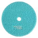 5inch/125mm Wet Diamond Stone Polishing Pads Wheel Polisher Discs for Granite Marble Concrete Buffing Polishing(Grit 2000)