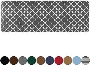 Kangaroo Original Standing Mat Kitchen Rug, Anti Fatigue Comfort Flooring, Phthalate Free Pads, Ergonomic Floor Pad for Office Stand Up Desk, 70x24, Quatrefoil Gray White