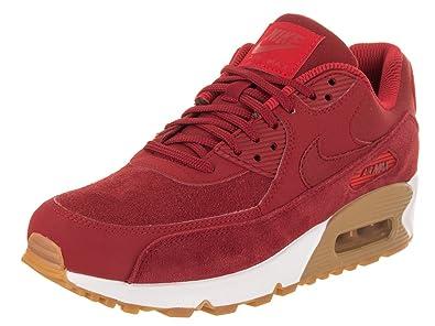 low priced 5e57d 141e7 NIKE AIR MAX 90 Suede W Sneaker Damen Rot Sneaker Low Amazon.de Schuhe   Handtaschen