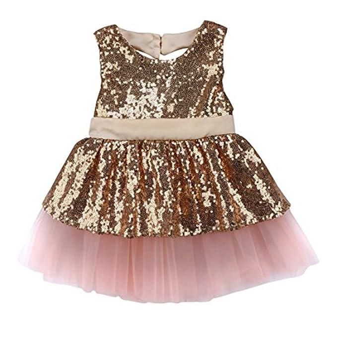 Amazon.com: tueenhuge bebé niña tutú vestido lentejuelas ...
