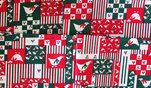 4 CHRISTMAS FAT QUARTERS 100% COTTON PARTRIDGE (12 DAYS OF CHRISTMAS)~ Quilt Fabric ~ CRAFTS ~ SEWING (Cotton Fabric Holidays Quilt)