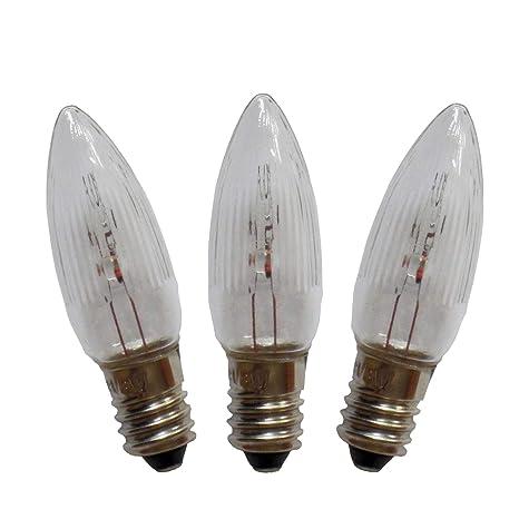 3W E10 Birne Kerzen Lampe Glühbirne Leuchtmittel Kleinschaftkerze 2er Set 16V