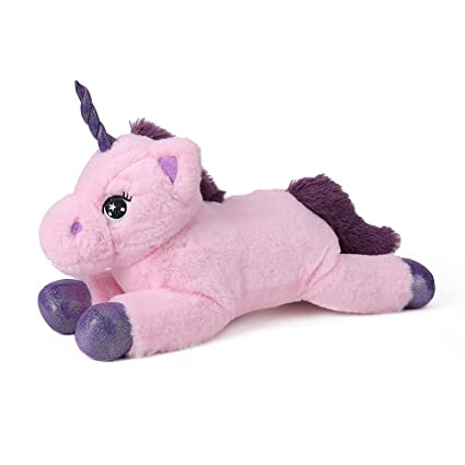 Amazon Com Dolphienshow Unicorn Stuffed Animal Pink Unicorn Plush