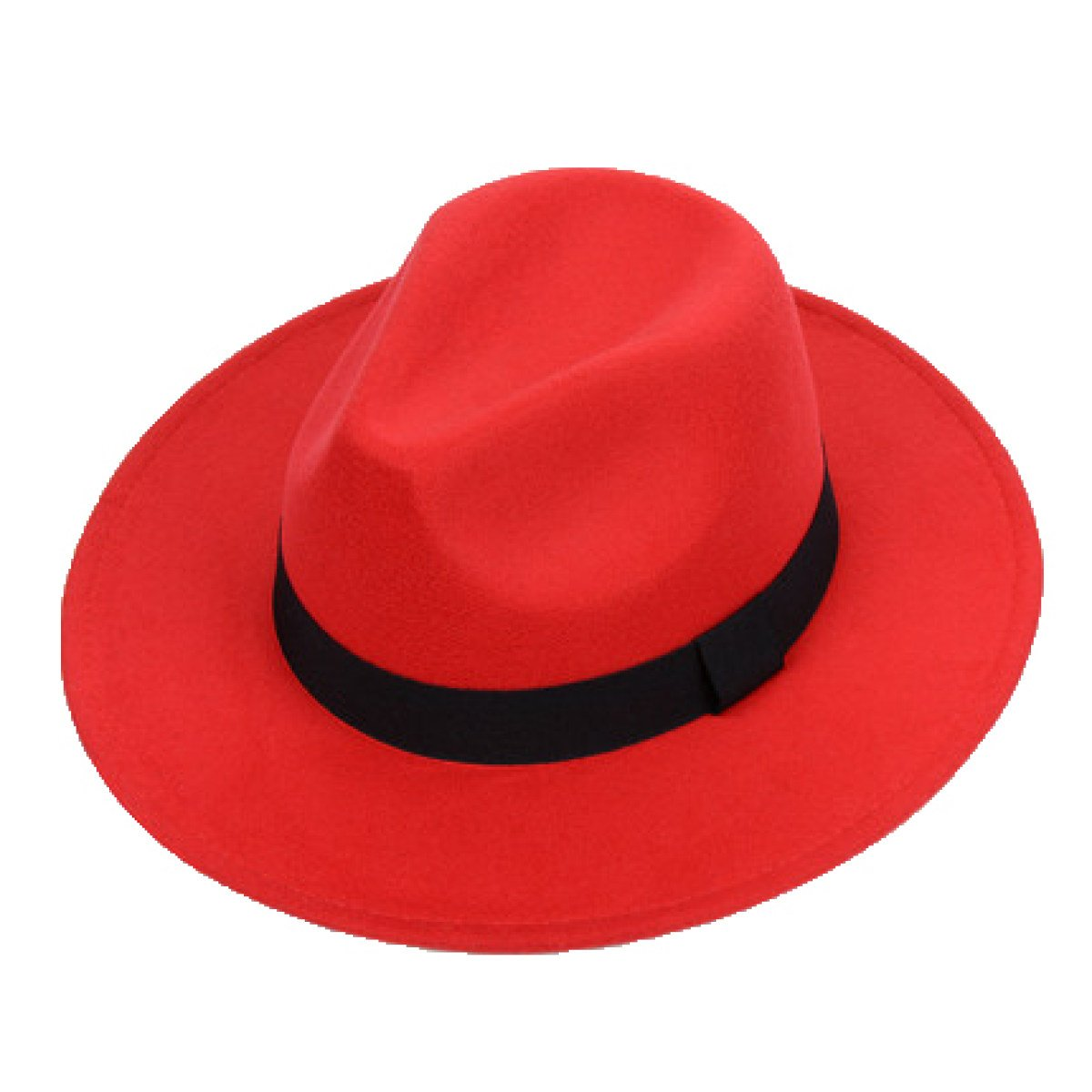 Hat Man And Woman Retro Hat New Hat Tide Gentleman Big Eaves Wide Canopy Hat Black-OneSize SJDT