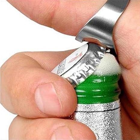 Sungpunet Anillo Abridor de botellas pequeñas acero inoxidable abrebotellas anillo