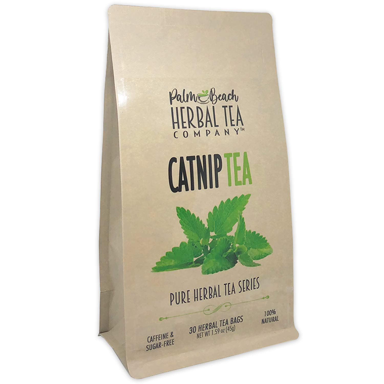 Catnip Tea - Pure Herbal Tea Series by Palm Beach Herbal Tea Company (30 Tea Bags) 100% Natural [Packaging May Vary]
