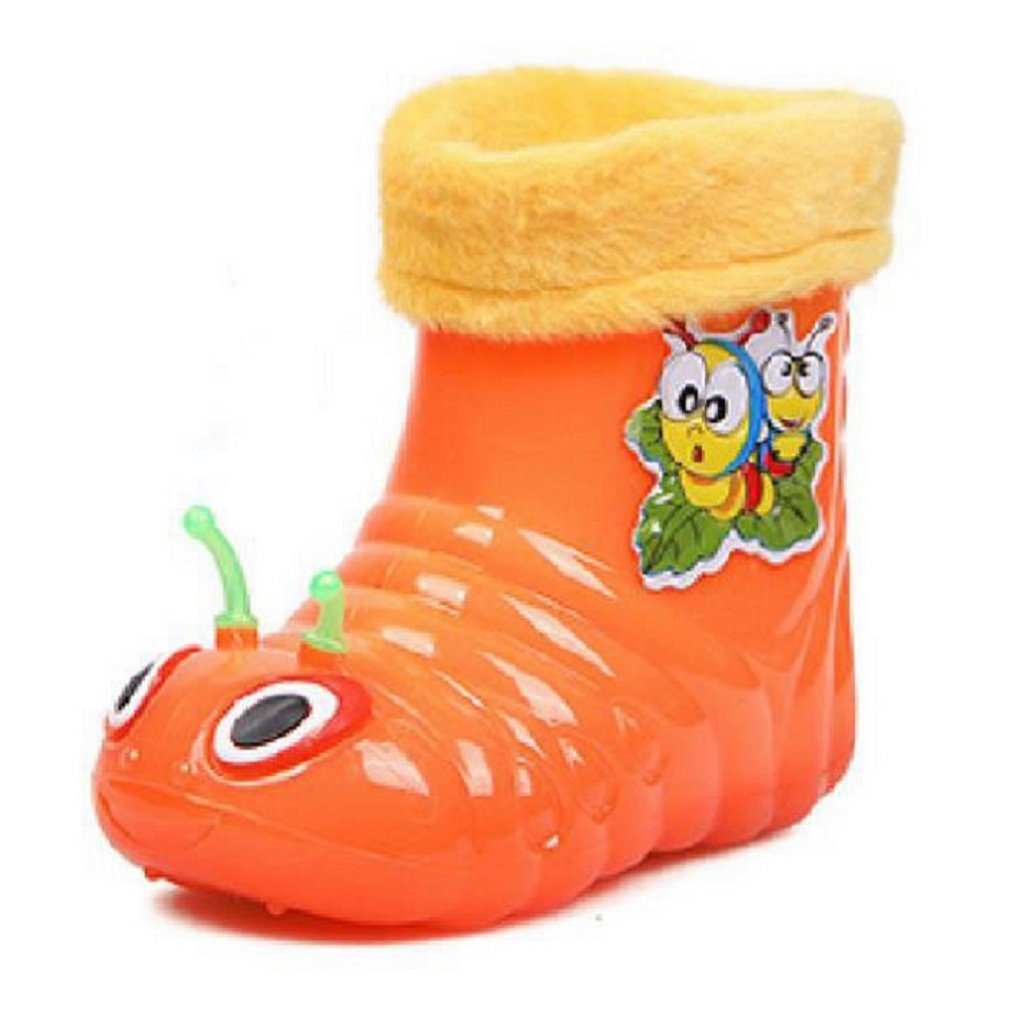 MOKRIL Kids Baby Girls Boys Lightweight Short Rain Boots, Various Sizes and Colors Available (8 M US Toddler, Orange)