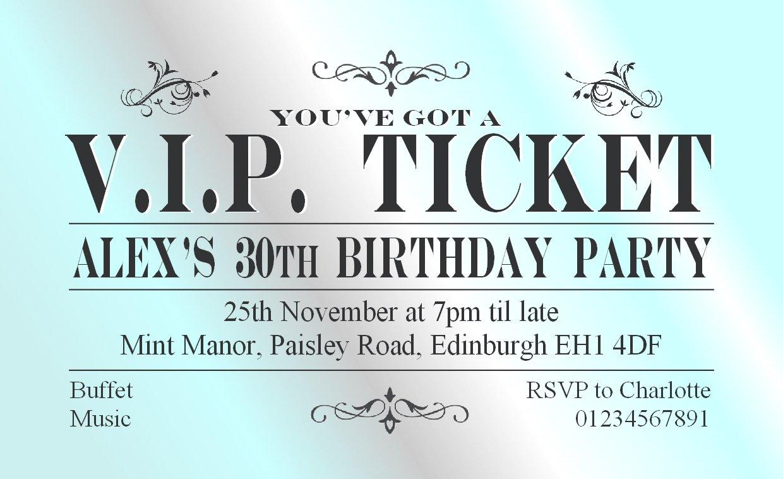 70 Personalised Magnetic Birthday Invitations