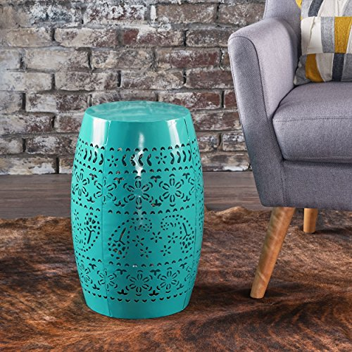 Apple Valley Lace Cut Teal Iron Accent Table by Great Deal Furniture (Image #1)