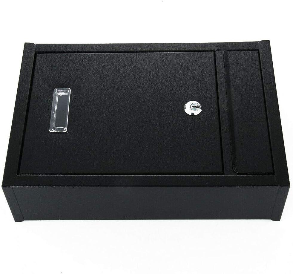 MorNon Buz/ón de Pared Buz/ón de Metal Correo Postal Caja de Revistas 21.5CM x 8CM x 32.5CM Negro