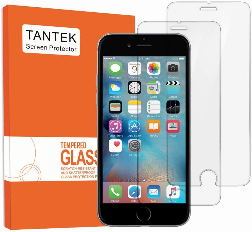 TANTEK YYY11 3D Touch Anti-Bubble Hd Ultra Clear Tempered Glass Screen Protector for iPhone 6/6S - 2 Piece