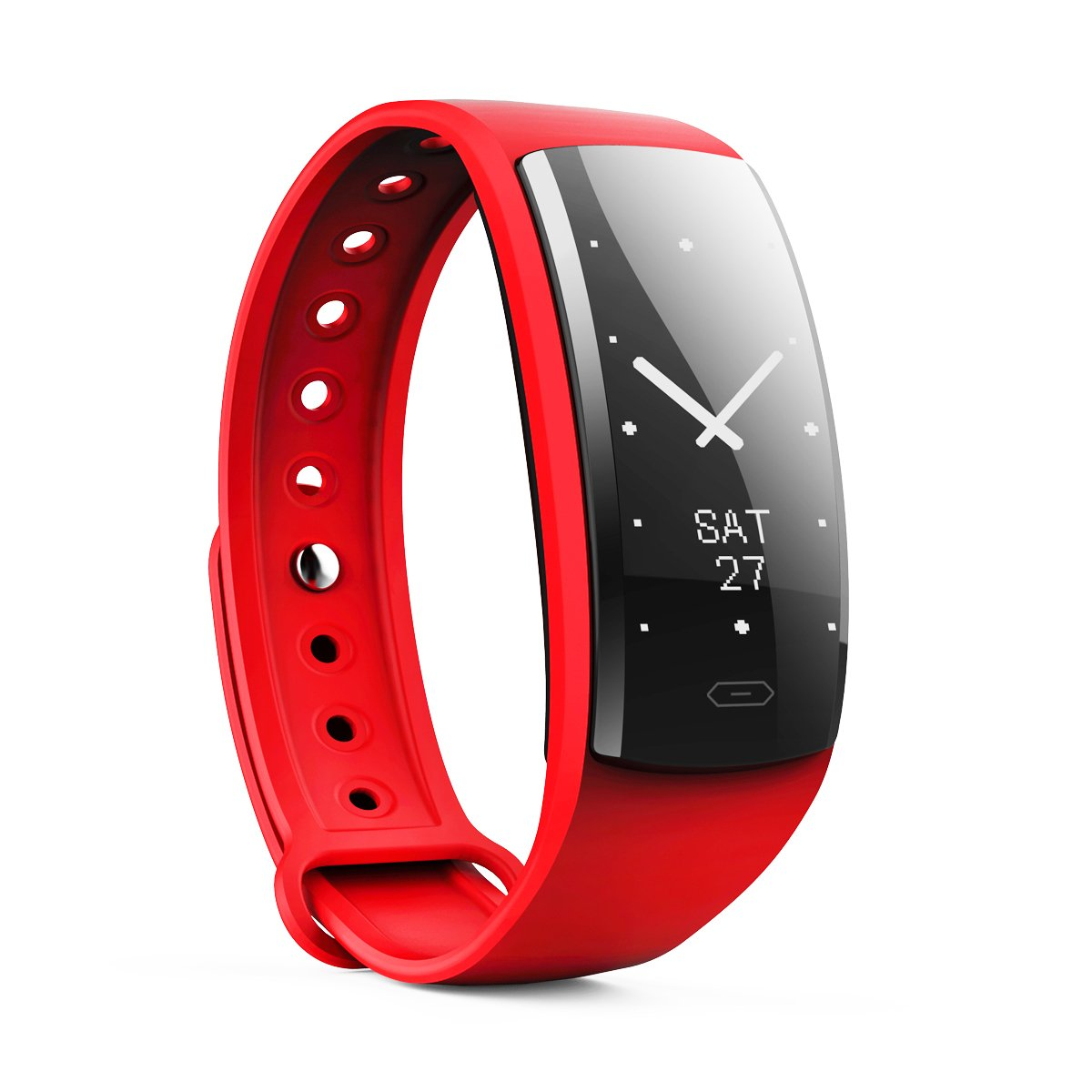 Sundray Fitness Tracker,Activity Tracker with Heart Rate Monitor,IP67 Waterproof,Smart Bracelet with Step Tracker Sleep Monitor Calorie Counter Pedometer Watch for Android and IOS (red1)