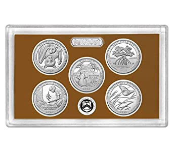 2018 S San Francisco Silver Reverse Proof Quarter Set NO BOX /& COA 5 Coins