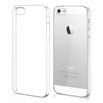kwmobile Funda compatible con Apple iPhone SE / 5 / 5S - Carcasa para móvil - Protector trasero en transparente