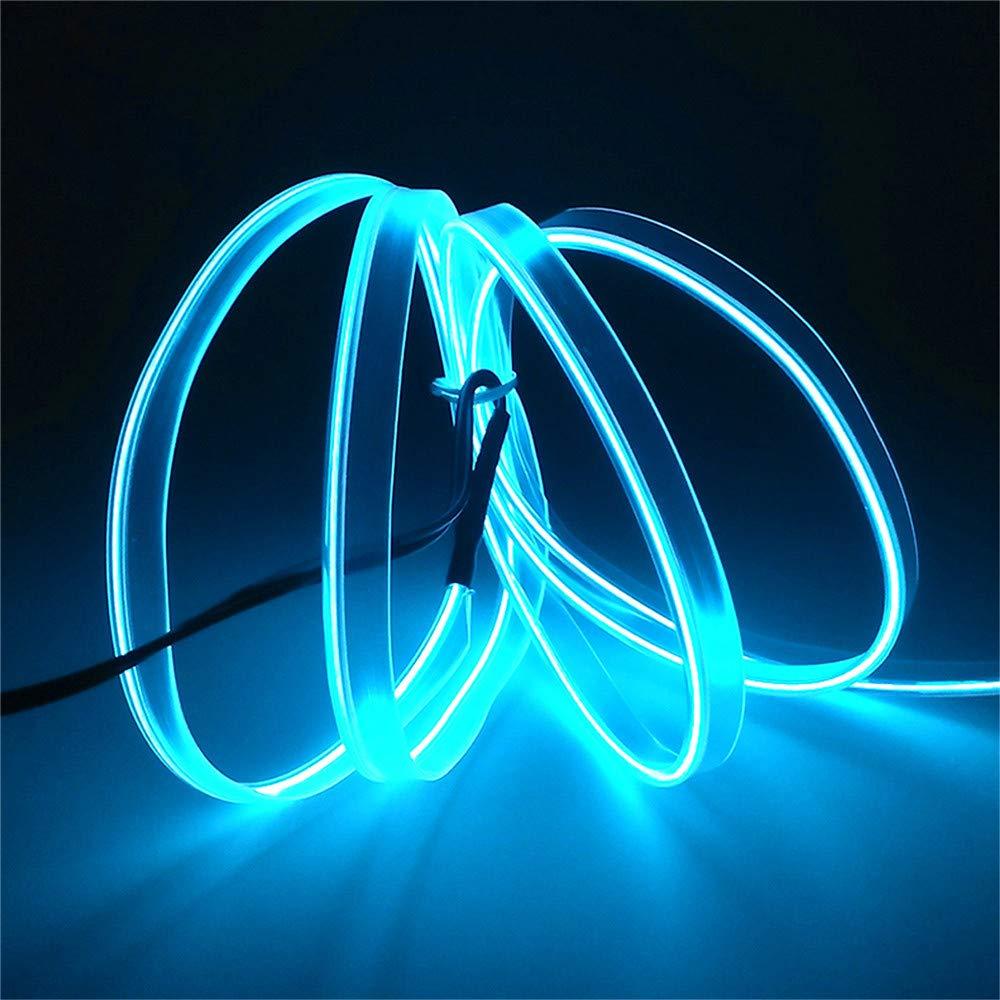 Hilo LED neones para interior coche azul