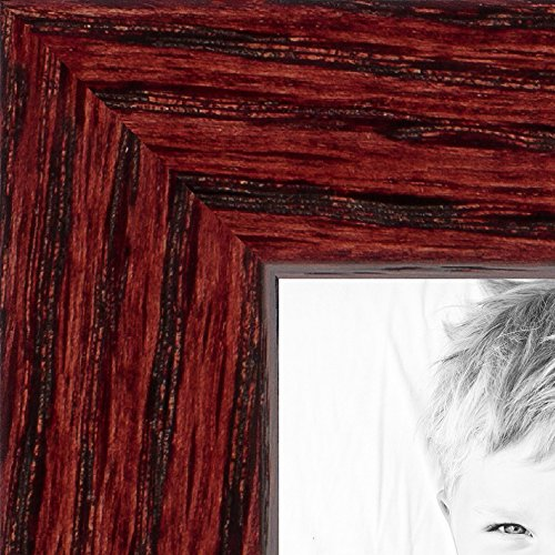ArtToFrames 16x24 inch Cherry on Red Oak Wood Picture Frame, (Red Poster Frames)