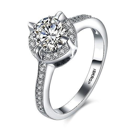 YLR chapado en platino joyas romántico anillos de boda (serie Popular)