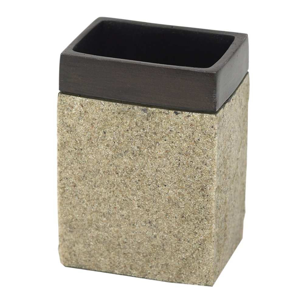 Natural with Dark Bronze 9719516221 India Ink Leland Soap Dish ZPC Zenith Products Corporation Zenna Home