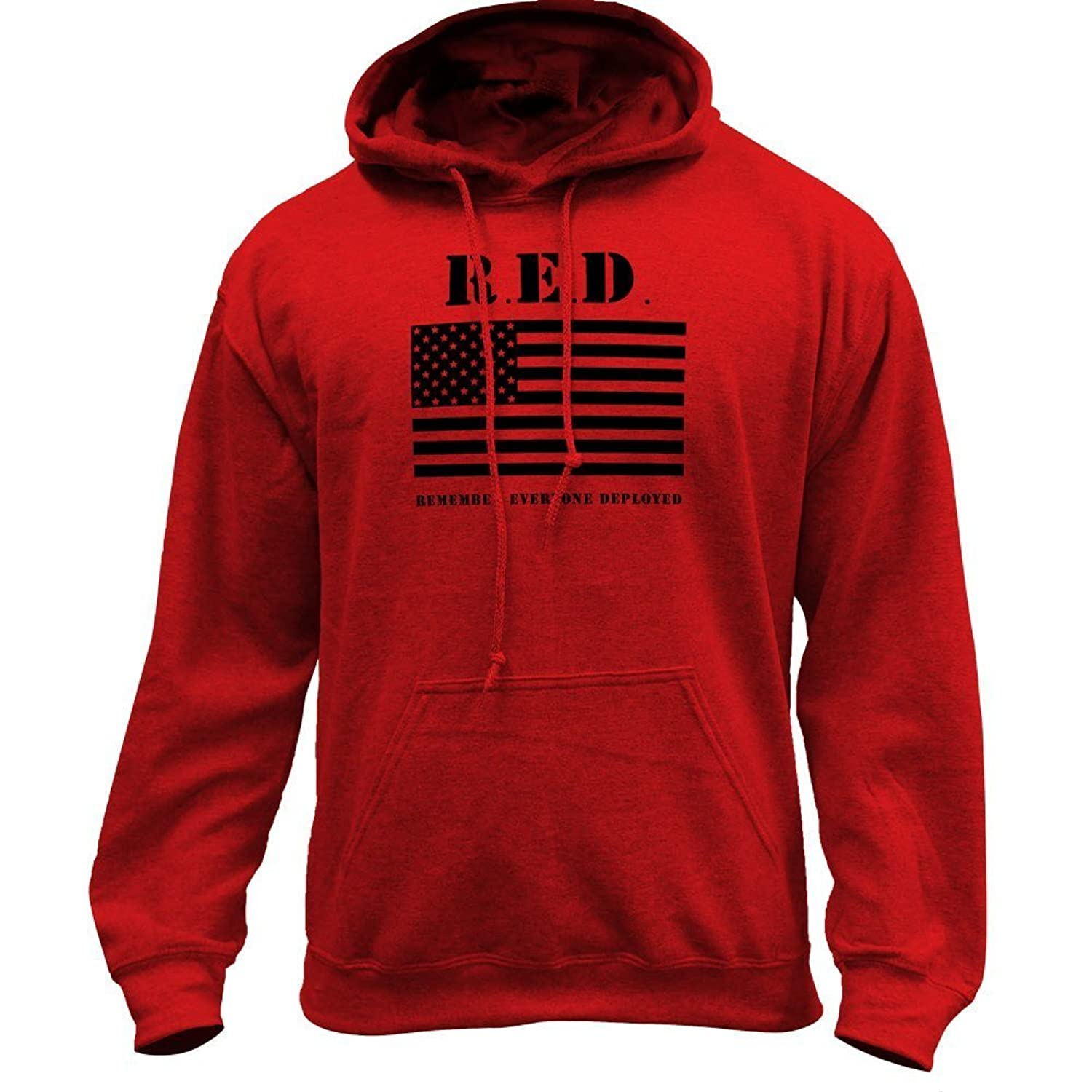 b6c1f148096 cheap Remember Everyone Deployed RED - Flag Military Pullover Hoodie ...