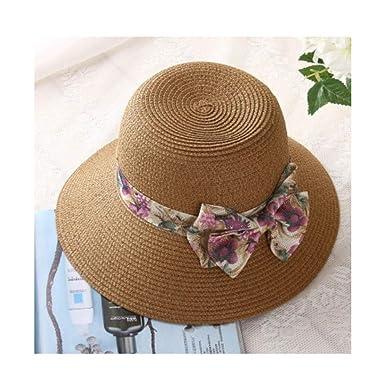 Tapas para el Sol Pajarita Redondas Top Plana Sombrero de Playa de ...