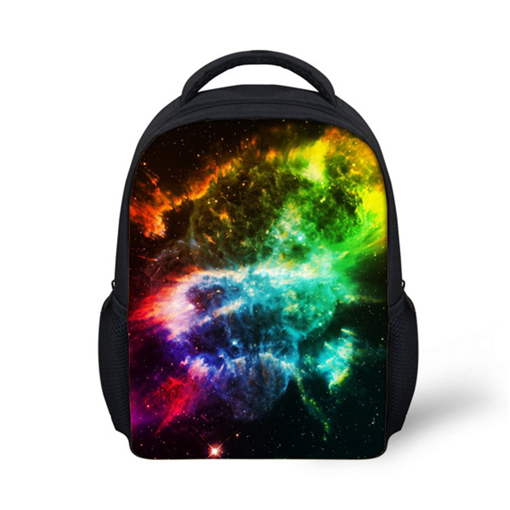 Hoijay Preschool Backpack, Little Kid Backpacks for Boys and Girls Colorful Galaxy