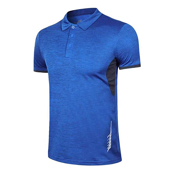 Hombres Polo Camisas - Ajuste seco Actuación Corto Manga Golf ...