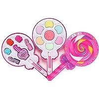 Kızlar için makyaj paleti yıkanabilir kozmetik seti güzellik seti parti oyunu oje göz farı dudak parlatıcısı